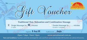 Gift Voucher sample single